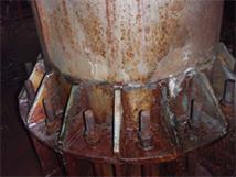 排気塔金属疲労修繕